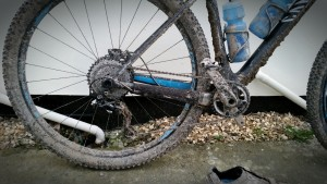 1st muddy ride with the hope retainer ring and Hope T-Rex Ratio Expander Sprocket